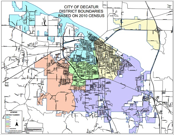 Council Districts Map City of Decatur Alabama