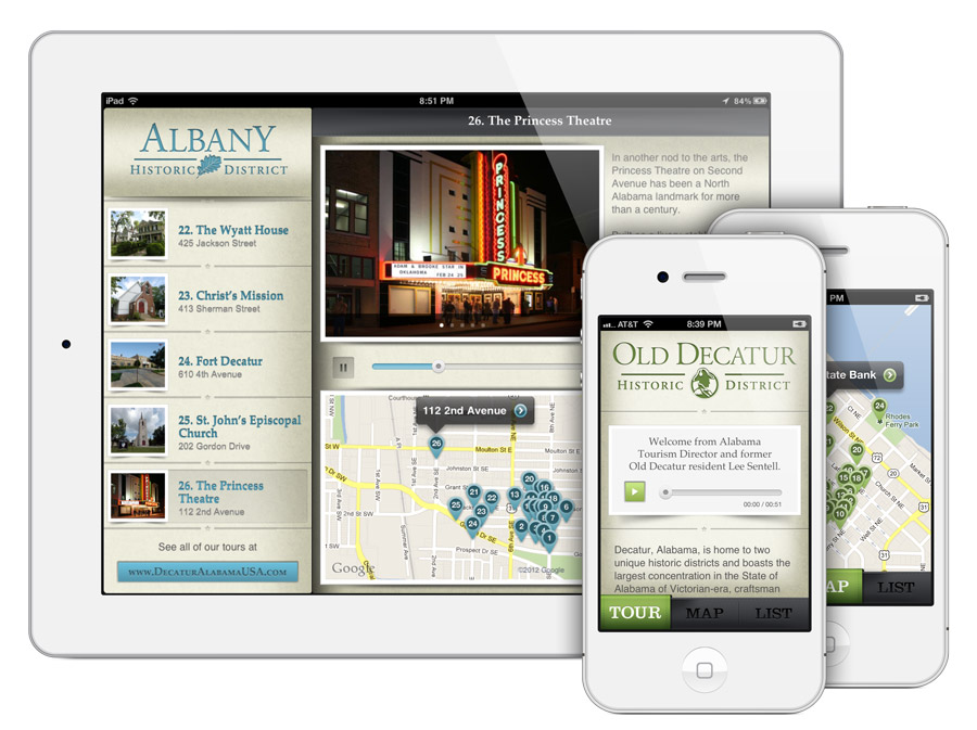 Decatur, AL Historic Walking Tour Apps